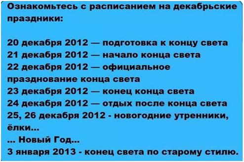 Продолжение статьи  «Что нас может ожидать в 2012 году»