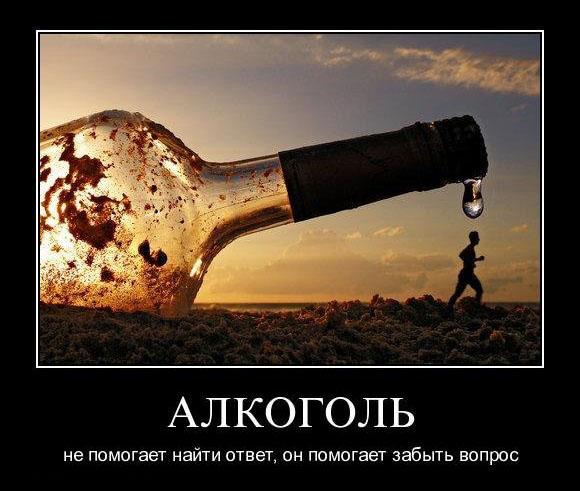 Блокировка головного мозга –  воздействие алкоголя на человека